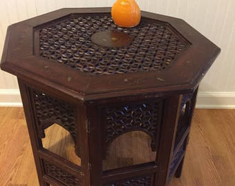"""OCTAGON MOROCCAN TABLE, Folding Table, 20"""" Height X 22.5"""", Octagon Table, Moroccan Table, Side Table, Mid Century at Modern Logic"""