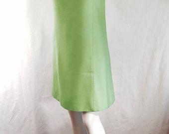Vintage-1960s - JEWELED NECKLINE-A-Line-Shift- Skimmer -Dress