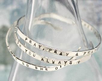 Customize Cuff Bracelet. Sterling Silver Cuff. Your Words. Personalize Cuff Bracelet. Custom Cuff Bracelet. Personalized Cuff Bracelet.