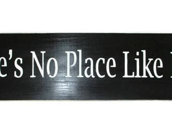 ON SALE TODAY Wizard of oz There's No Place Like Home Wood Sign Black and White 6 x 24