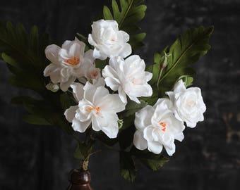 Love is Pure Paper Flower Bundle - White Floribunda Roses for Valentine's Day