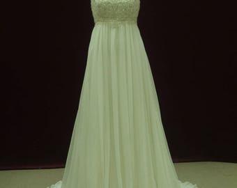 Gatsby wedding dress etsy gorgeous gatsby wedding dress empire waist with straps custom made to your measurements junglespirit Gallery