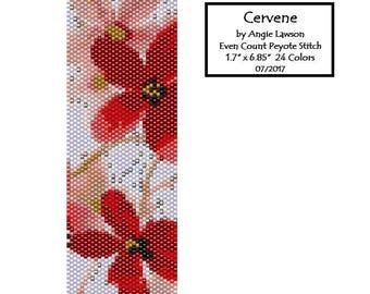 Even Count Peyote Stitch Bracelet Pattern Digital Download - Cervene