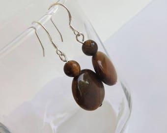 Tiger Eye Earrings Gemstone Earings, Tigers Eye Jewelry Earrings Dangle, Gemstone Earrings, Gemstone Jewelry, Gemstone Drop Earrings