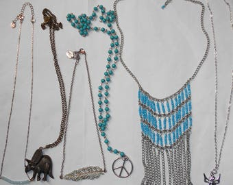 6 Hippie/Boho Necklaces Designer +