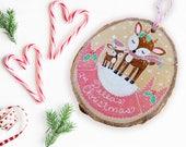 Babys 1., Babys Christbaumkugel, Weihnachtsgeschenke für Baby, Rentier Ornament, Reh Ornament, Wald Ornament, Wald Weihnachten