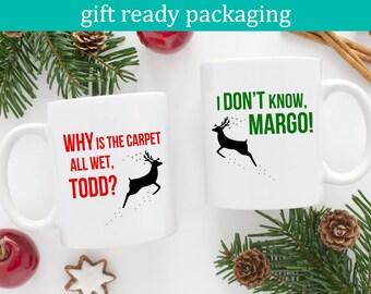 National Lampoons, Christmas Vacation, Couples Mugs, Mug Set, Margo & Todd, National Lampoon Gift, Christmas Mug Set, His and Hers