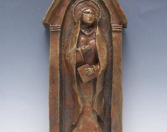 Patron of Grandmothers: St. Anne, Handmade Statue (Large Size)