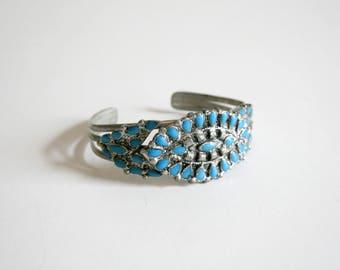 Enamel Painted Turquoise Cuff Bracelet