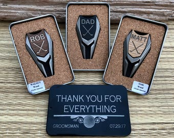 Groomsmen Gifts, Set of 5+ Personalized Engraved Golf Ball Markers &  Divot Tool, Unique Groomsman Gift for Groomsmen Golf Gift Box Ideas