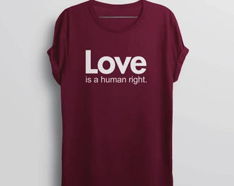 Love is Love Shirt | valentines day lgbt shirt, gay pride shirt, love wins equality shirt, equal rights lgbtq tshirt, Love is a Human Right