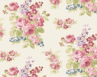 Anne Floral Cream  c5861 - Anne of Green Gables - Riley Blake Designs Fabric - By the Yard