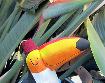 Tiki Toucan, your personal drinking buddy! Handmade sculpture