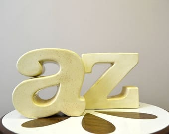 1970s A to Z Ceramic Bookends