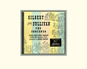 Gilbert and Sullivan The Sorcerer, D'Oyly Carte Opera Company Conducted by Isidore Godfrey 1954 London Records 2 LPs Boxed Set Vintage Vinyl