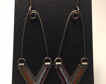 Arrow Earrings- Earth Tone Palette