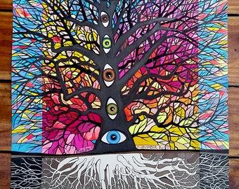 Tree of Life, original drawing 11x14