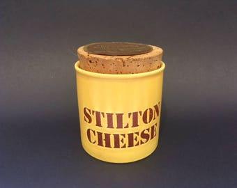 Vintage 70s Kiln Craft Stilton Cheese Storage Jar
