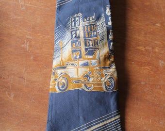 Vintage Courchevel Car Tie, All Silk