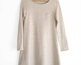 Woman dresses, jersey knit dresses, no iron dresses, tunic dress, pullover dress, Japanese clothing, organic cotton, sustainable clothing