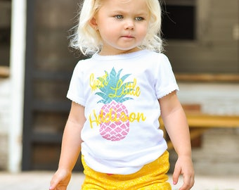 Pineapple Shirt Personalized Toddler Girl Outfit Sweet Little Pineapple Baby Gift Baby Girl Gift Toddler Shirt Pink Pineapple Baby Shower