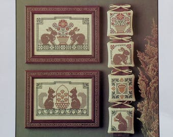 Cross Stitch Pattern | WOODLAND SAMPLING | The Prairie Schooler | Book No. 17 | Counted Cross Stitch Pattern | Out Of Print