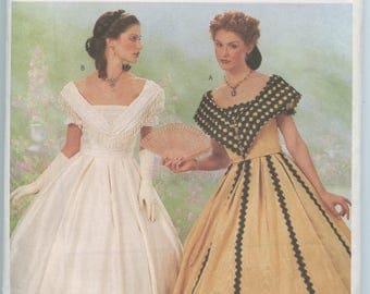 Butterick 6693 Making History Misses' Southern Belle Civil War Dress or Gown Pattern Historical Costume Size 12-16 UNCUT