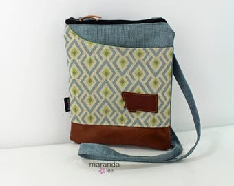 ZOE Messenger Cross Body Sling Bag - On Point Blue with Montana Patch and PU Leather READY to SHip