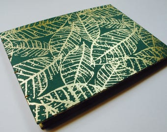 Large Green and Gold Greenery Leaf Wedding Guest Book Instax Polaroid Photo Album