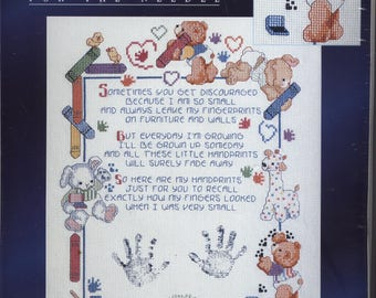 Fingerprints Poem Counted Cross-Stitch Kit