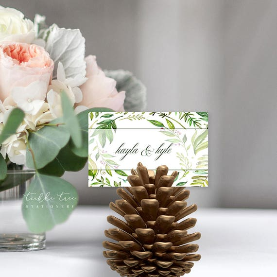 Place Cards/Reception Cards/Escort Cards - Breezy Leaf (Style 13701)