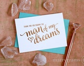 ROSE GOLD FOIL Wedding Card to Your Future In-Laws, Thank You for Raising the Man of My Dreams Card Gift to Parents of Groom from Bride CS15