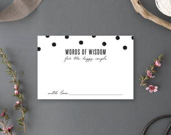 Instant Download - Words of Wisdom for the Happy Couple Card - Chelsea Collection