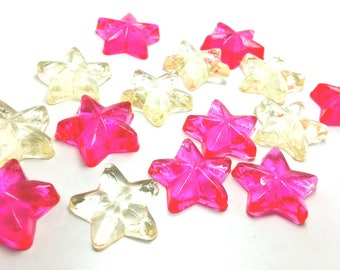 50 STAR CANDIES, Twinkle Twinkle Little Star Party Candies, Cupcake Toppers