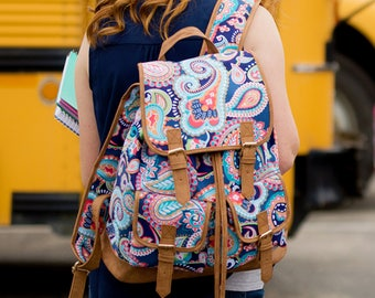 Girls monogrammed backpack, Campus Backpack, big backpack, collage backpack, monogram gifts, back to school