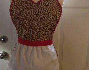 Christmas Gingerbread Man apron, womens full apron, flirty apron, house warming hostess gift