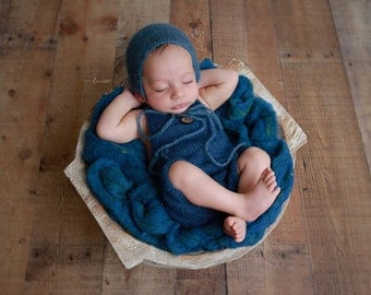 Navy Mohair Overalls Romper, boys romper, bebe, foto, fotografia, photography prop, boys photoshoot, knit romper, by Lil Miss Sweet Pea