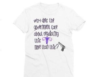 uterus vs gun control shirt