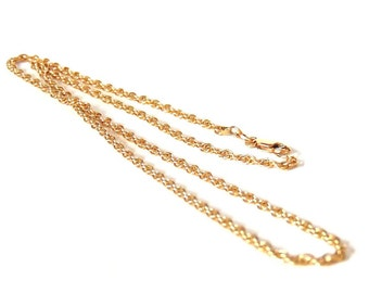 Sale! Vintage 10k Rope Chain Necklace, 17 inches, 4.4 grams