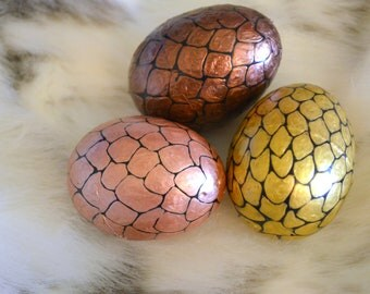 Dragon Eggs. Hand painted plastic Easter Eggs.