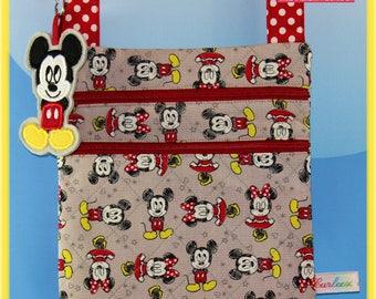 Disney Small Cross body Bag Mickey Felt Dangle included Mickey and Minnie