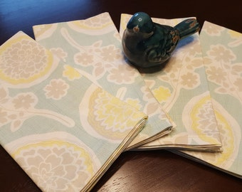 Set of Four Cloth Napkins,  Cloth Napkin Set,  Spring Napkin Set,  Summer Napkin Set