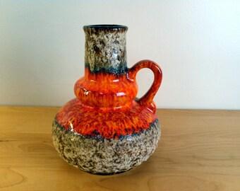 Dramatic Orange West German Pottery Jopeka | SHIPS FREE