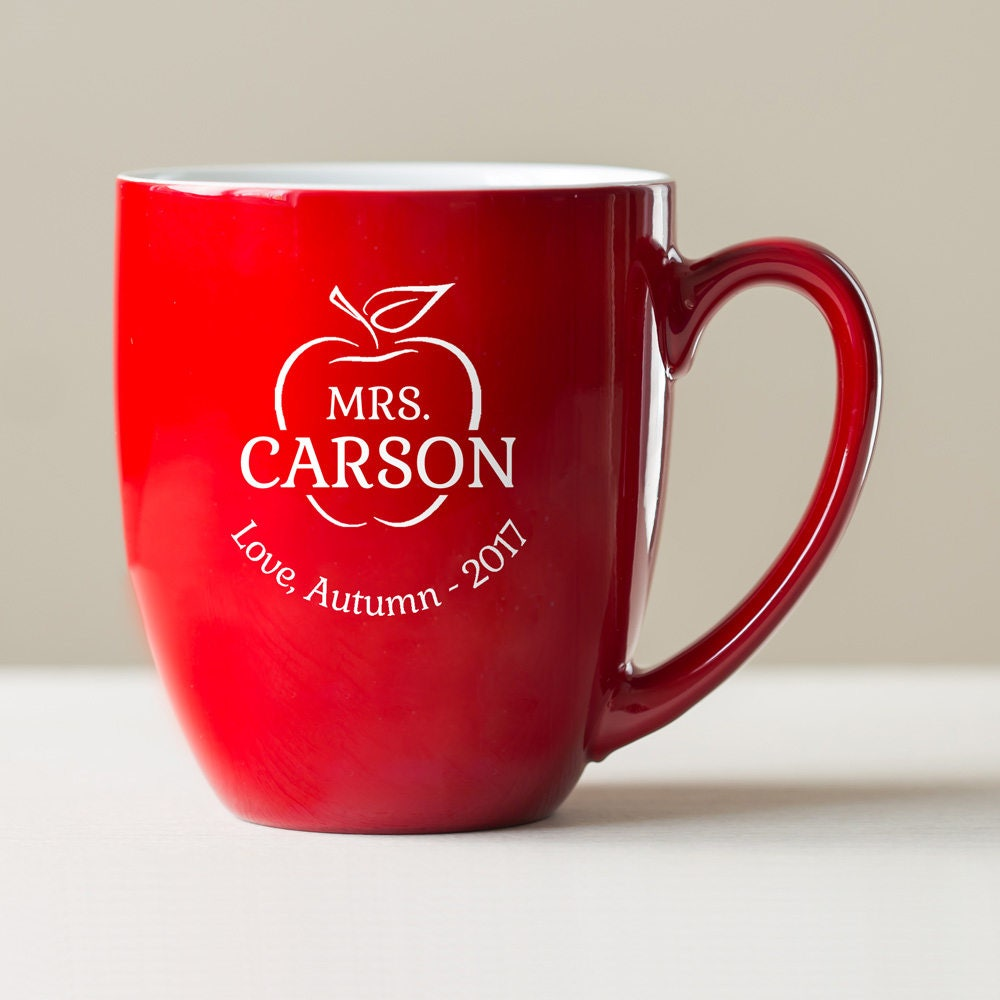 Personalized Teacher Coffee Mug Engraved Large Personalized