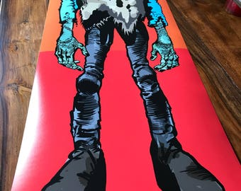 """Giant 36"""" x 11.5 Jack Davis inspired FRANKENSTEIN poster - FULL COLOR Heavy Duty print"""
