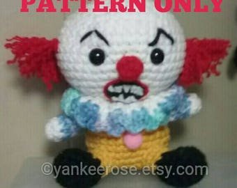Pennywise the Dancing Clown Inspired Amigurmi Doll Pattern ONLY