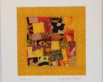 Art Quilt Matted for Framing Signed by the Artist and /FREE SHIPPING