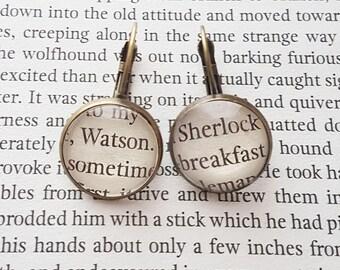 Sherlock Holmes Earrings, Bronze Or Silver, Sherlock & Watson Earrings, Book Jewellery, Gifts For Bookworms, Literary Gifts