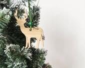 Reindeer ornament, Christmas tree decoration, christmas decoration, personalised christmas