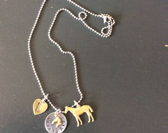 Horse Jewelry Personalized Riding Necklace Horse Hunter Jumper Rider Equestrian Horse Lover